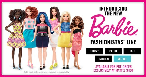 Barbie's Got 3 more body types, seven skin tones, 18 eye colors, and 18 hairstyles #DIVERSITYMATTERS | Fashion Technology Designers & Startups | Scoop.it
