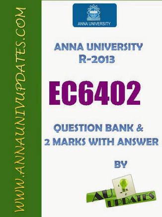 EC6402 Communication Theory Ct Lecture Notes and Question Bank - 2 mark with answers ~ Anna University Nov Dec 2014 Results- Auupdates | Anna UNiversity Updates | Scoop.it