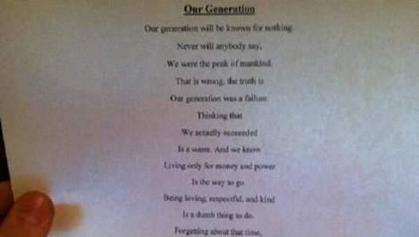 'Simpel' gedicht van 14-jarige zal u versteld doen staan | literatuuractua laurinawade | Scoop.it
