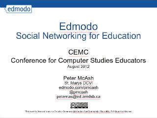Edmodo-CEMC2012 | SlideRocket, Online Presentation Tools | Ed Tech Stuff | Scoop.it