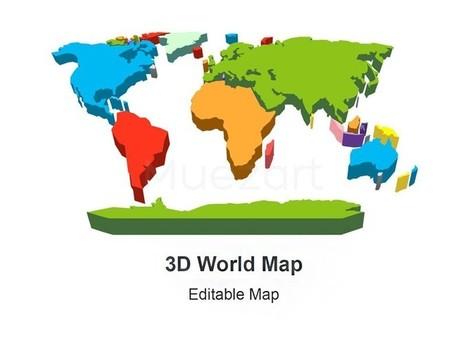 3D World Map | adsfpupu | Scoop.it