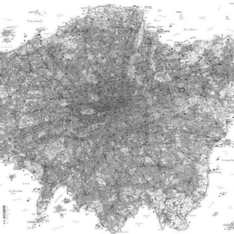 Exhibition showcases artist's highly intricate, hand-drawn maps (Wired UK) | space | Scoop.it