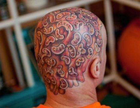 "Guy Known as ""Captain Beany"" Gets 60 Baked Beans Tattooed on His Head 