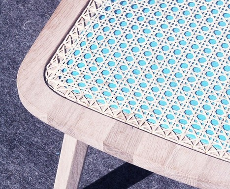 Tim Defleur valorise le savoir-faire ancestral du cannage de rotin avec un textile coloré | inoow design lab | Scoop.it