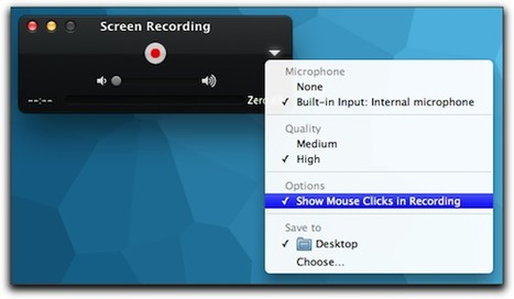 OS X Lion: Screen Recording in QuickTime X - The Mac Observer | Screencasting 101 | Scoop.it
