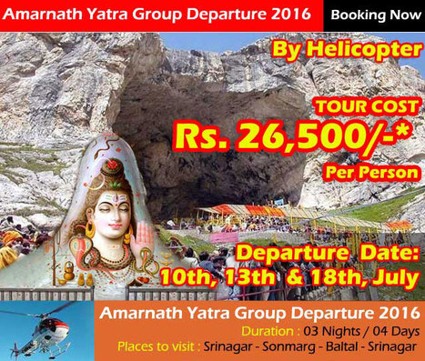 Amarnath Yatra Group Departure by Helicopter 2016 | ARV Holidays Pvt. Ltd. | Scoop.it