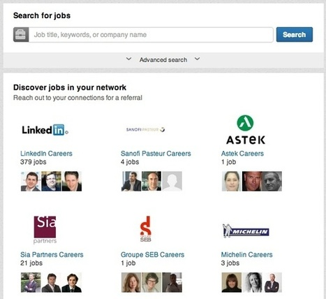 LinkedIn améliore la recherche collaborative d'offres d'emploi | Time to Learn | Scoop.it