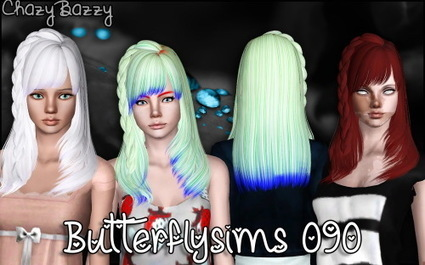 Butterfly`s 090 hair retextured by Chazy Bazzy | Sims 3 Downloads | Scoop.it