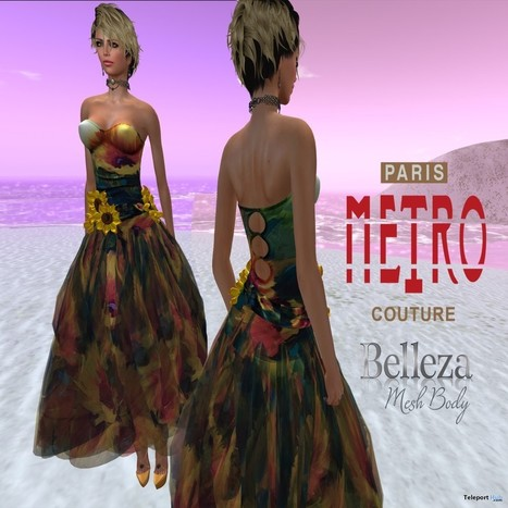 Sunflower Day Dress with Belleza Applier by Paris METRO Couture | Teleport Hub - Second Life Freebies | Second Life Freebies | Scoop.it