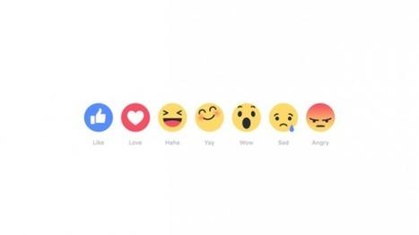 """Facebook : les nouvelles options de """"like"""" arrivent bientôt   geeko   L'e-Space Multimédia   Scoop.it"""