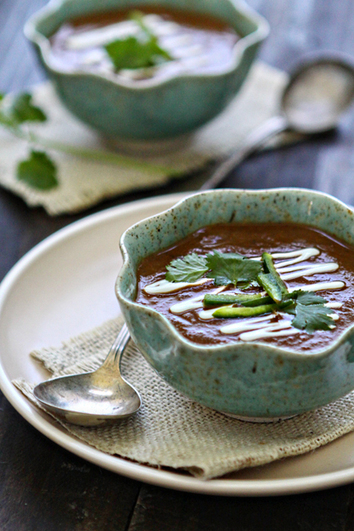 Bean Soup with Roasted Chiles and Tomatoes | Good Life Eats | 4-Hour Body Bean Cookbook | Scoop.it
