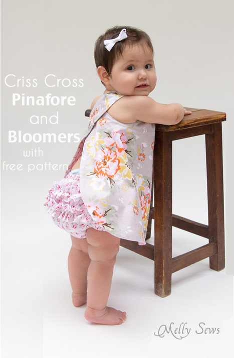 FREE Baby Pinafore and Bloomers Pattern - Melly Sews | Tejidos | Scoop.it