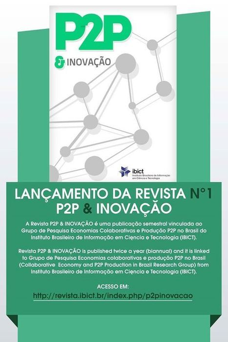 """Launching of the """"P2P and Innovation"""" magazine in Brazil 