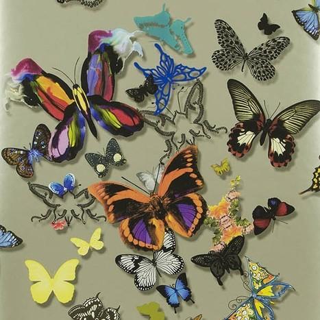 50 idées pour habiller ses murs : Papier peint Butterfly Parade, Christian Lacroix, Designer's Guid   Décoration d'intérieur, tissus et papiers peints de luxe   Scoop.it