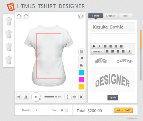 Personalize Your T-Shirts By Using T-Shirt Designer Software | Product Designer Tool | Scoop.it
