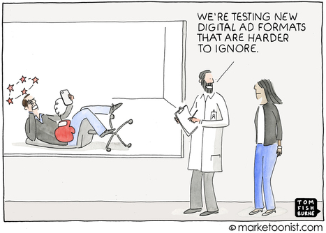 The Future of Digital Advertising cartoon | Marketoonist | Tom Fishburne | Content Marketing | Scoop.it