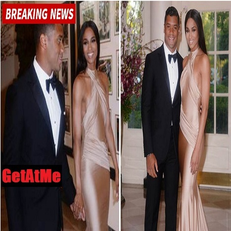 "GetAtMe Russell Wilson takes Ciara to a White House dinner with the Obamas (now ""IBet"" someone saw that #LSMH) 
