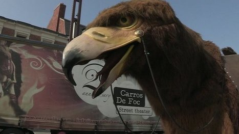 Bringing a giant puppet eagle to life - BBC | AC Affairs | Scoop.it