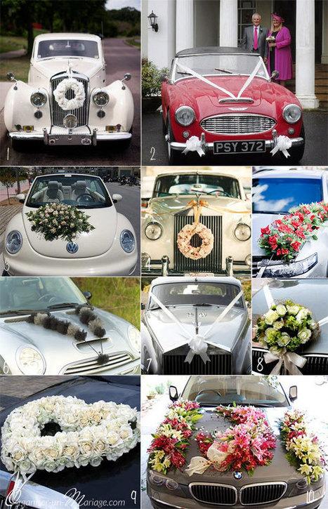 Avez-vous pensé à la déco de la voiture ?   Future mariée   Scoop.it