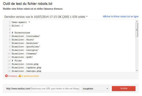 L'outil de test du fichier robots.txt vient d'être mis à jour | SEO & Inbound Marketing | Scoop.it