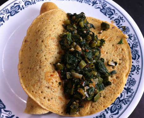 Chickpea Nomelettes with Kale | Healthy Whole Foods | Scoop.it