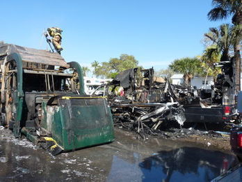 RV park fire victims receive support - Fortmyersbeachtalk.com | Motorhome Madness | Scoop.it