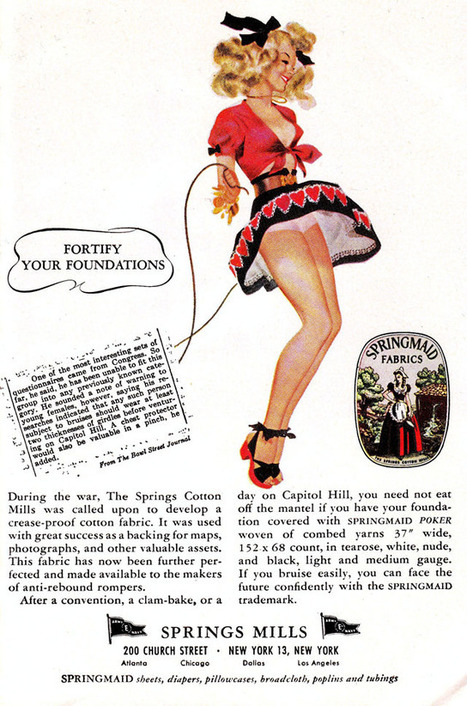 A Gallery of Sexy, Vintage Springmaid Fabrics Advertisements ... | Sex Marketing | Scoop.it