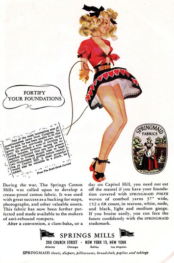 A Gallery of Sexy, Vintage Springmaid Fabrics Advertisements ... | Consumption Junction | Scoop.it