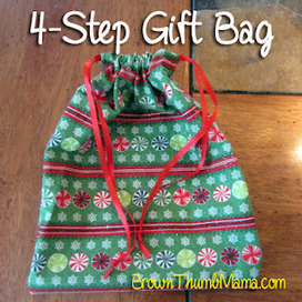Brown Thumb Mama: Sew A Gift Bag in 4 Steps | Annie Haven | Haven Brand | Scoop.it