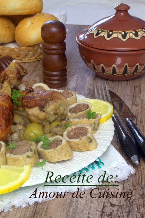 tajine de champignon-roulé de poulet a la viande | Cuisine Algerienne, cuisine marocaine, cuisine tunisienne, cuisine indienne | Scoop.it