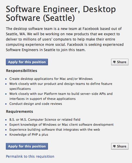 Facebook Still Has No iPad App But They're Building A Desktop SoftwareTeam?!   Social Media Guru   Scoop.it
