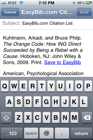 #EasyBib for #iPhone #iPod #iPad is bibliography management service #edtech20 | EasyBib | Scoop.it
