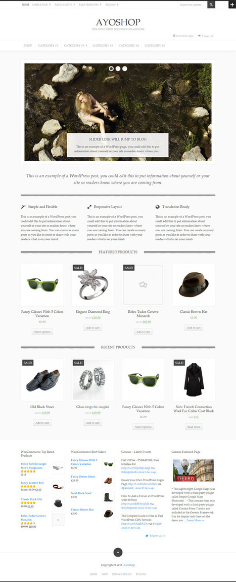 10 Free E-Commerce WordPress Themes for Online Stores | Cross Border eCommerce | Scoop.it