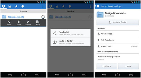 Dropbox for Android now lets you share folders with friends   Android News   Scoop.it