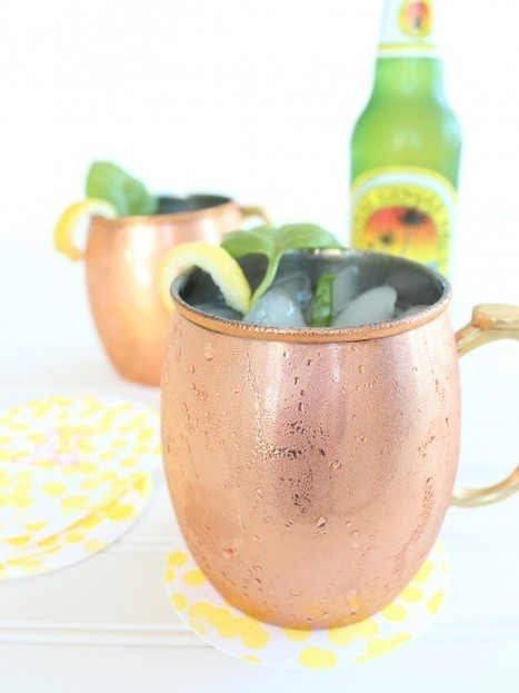 Peach Basil Moscow Mule | Last Call | Scoop.it