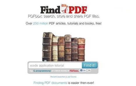 FindPDF, buscador de documentos PDF con alrededor de 250 millones de archivos indexados | Web 2.0 for juandoming | Scoop.it