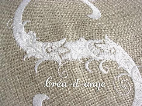 Coupons brodés avec un monogramme : Créa d'Ange | Où trouver mes créations? | Scoop.it