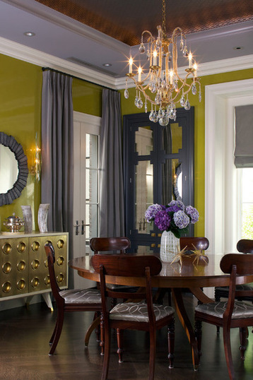 Color Feast: 6 Deliciously Uncommon Dining Room Color Combos | Designing Interiors | Scoop.it