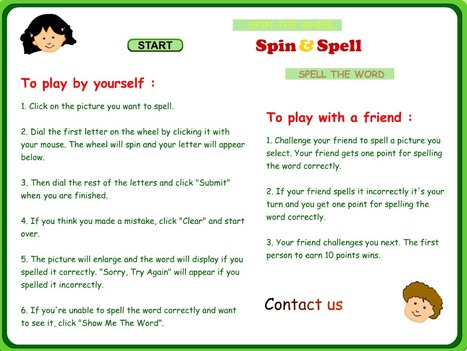 Spin and Spell - a Word Game for Young Learners | Vocabulary ELT | Scoop.it