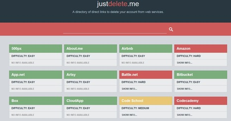 Just Delete Me | A directory of direct links to delete your account from web services. | Going social | Scoop.it
