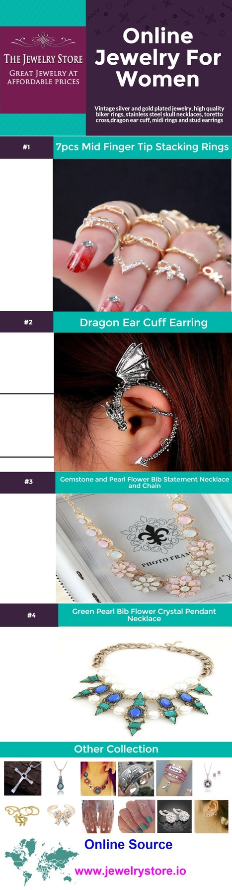 Online Jewelry for Women Info Graphic   Online Shopping   Scoop.it