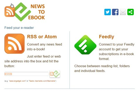 Comment convertir son blog en ebook avec News to Ebook | Time to Learn | Scoop.it