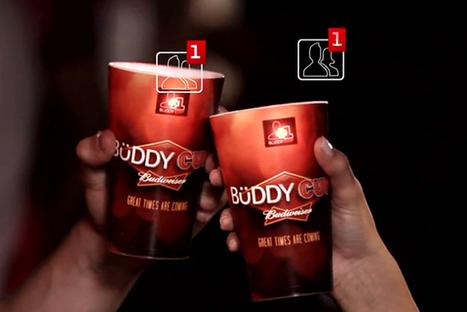 Budweiser crée des verres connectés qui permettent de devenir amis sur Facebook en trinquant ! | Cabinet de curiosités numériques | Scoop.it
