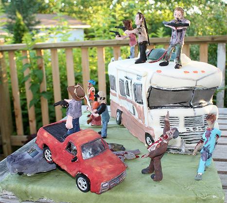 Un gâteau The Walking Dead qui fera le bonheur des zombies… | Kitty news | Scoop.it