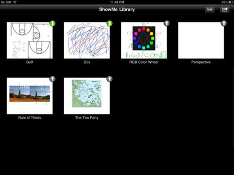 ShowMe Interactive Whiteboard for iPad on the iTunes App Store | New Web 2.0 tools for education | Scoop.it