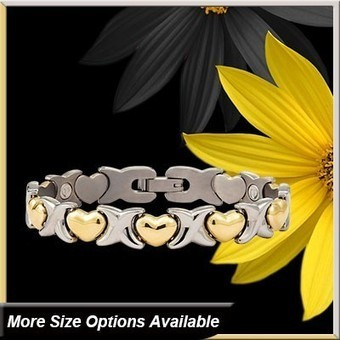 Hug & Kiss Titanium Magnetic Ionic Bracelet-Gold+Steel - Featured Products Home | Divotiusa | Scoop.it