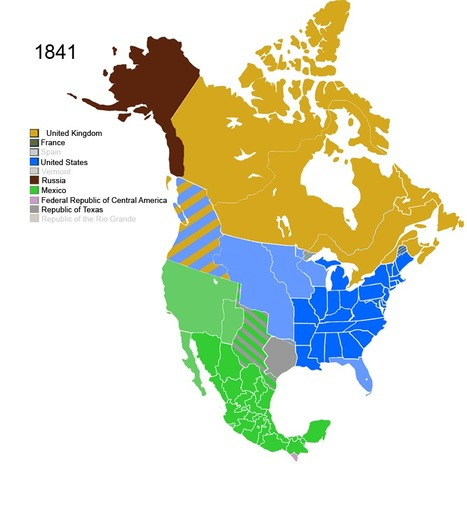 Non-Native American Nations Control over North America | Geography Education | Scoop.it