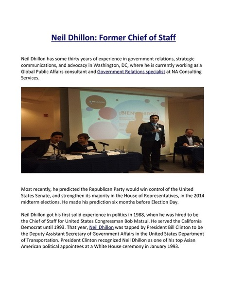 Neil Dhillon Former Chief of Staff | edocr | Neil Dhillon | Scoop.it