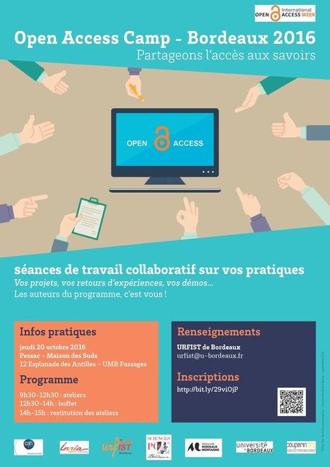 Open access camp, ateliers collaboratifs sur l'open access : votre programme, vos interventions   URFIST de Bordeaux   Classeur virtuel   Scoop.it
