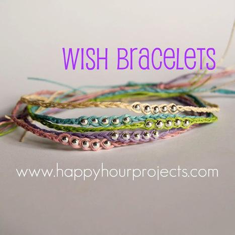 Happy Hour Projects: Wish Bracelets 2.0 - Ankle Length | DIY - jewellery  =  HTM - bijou | Scoop.it